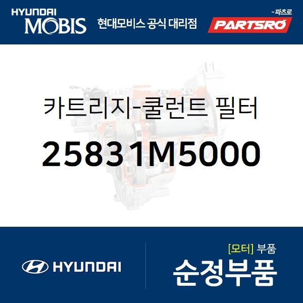 카트리지-쿨런트 필터 (25831M5000) 넥쏘 현대모비스부품몰
